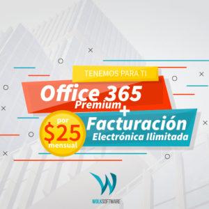 OFFICE 365 + FACUTRACIÓN ELECTRÓNICA ILIMITADA