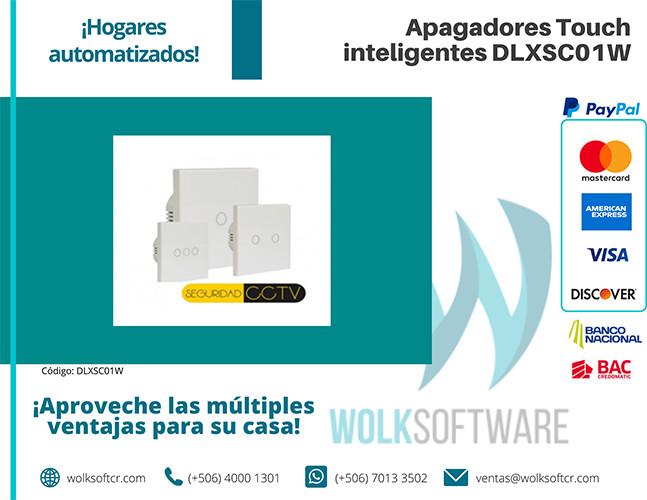 Apagadores Touch inteligentes | 1 Vía | DLXSC01W