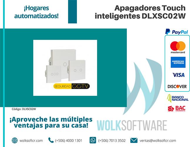 Apagadores Touch inteligentes | 2 Vías | DLXSC02W