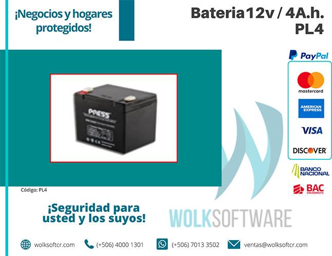Batería 12v / 4A.h. | PL4