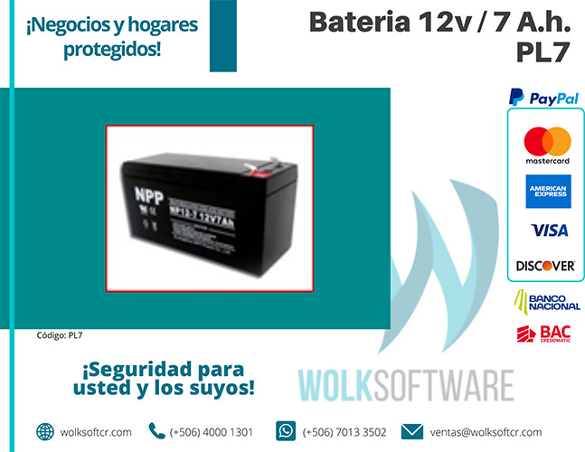 Batería 12v / 7 A.h. | PL7