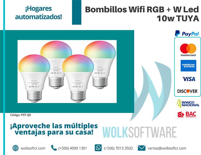 Bombillo Wifi RGB + W Led 10w  TUYA | PST-Q9