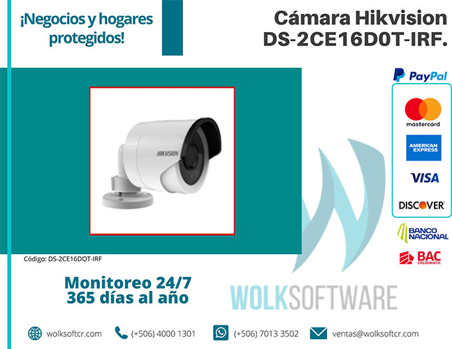 Cámara Hikvision | DS-2CE16D0T-IRF