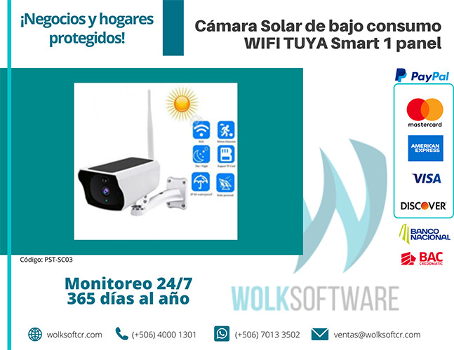 Cámara Solar de bajo consumo TUYA Smart 1 panel   PST-SC03