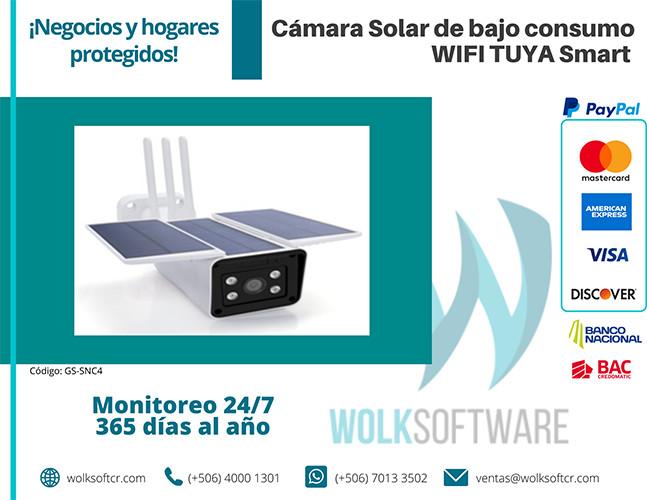 Cámara Solar TUYA Smart bajo consumo WIFI   GS-SNC4