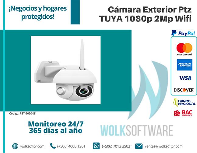 Cámara Exterior Ptz Tuya 1080p 2Mp Wifi | PST-9620-G1