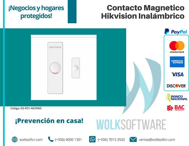Contacto Magnético HIKVISION Inalámbrico | DS-PD1-MC-WWS