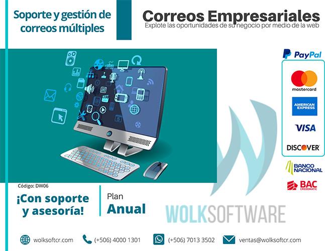 CORREOS EMPRESARIALES WOLK | ANUALIDAD