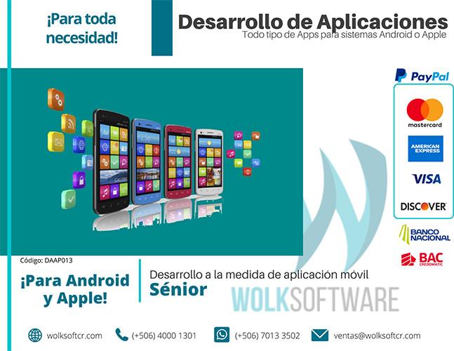 Desarrollo a la medida de aplicación móvil | Senior