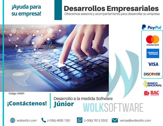Desarrollo a la medida de software| Junior