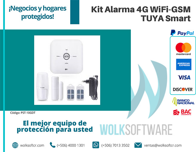 Kit Alarma 4g wifi-GSM TUYA Smart | PST-10GDT