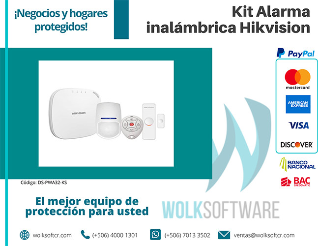 Kit alarma inalámbrica Hikvision | DS-PWA32-KS