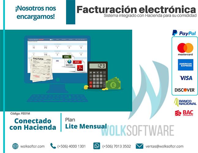 Plan Lite Facturación Electrónica | Mensual