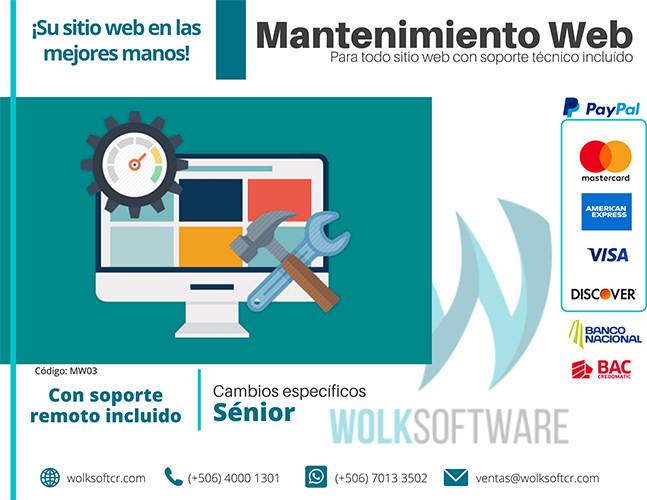 Cambios específicos en tu sitio WEB | Senior