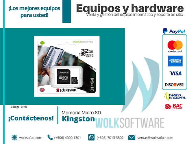 Memoria Micro Sd Kingston | SDCS2/32GB