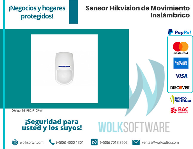 Sensor HIKVISION de Movimiento Inalámbrico | DS-PD2-P10P-W