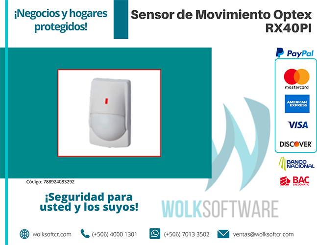Sensor de movimiento Optex | RX40PI