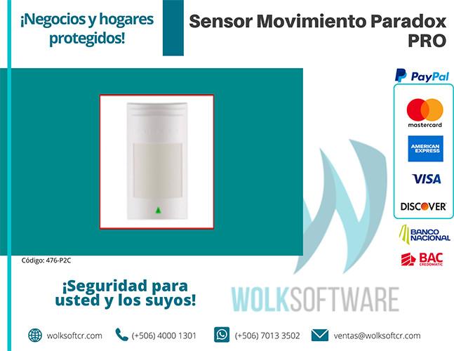 Sensor de movimiento Paradox | PRO