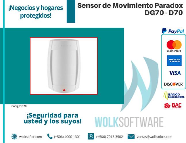 Sensor de movimiento PARADOX DG70 | D70