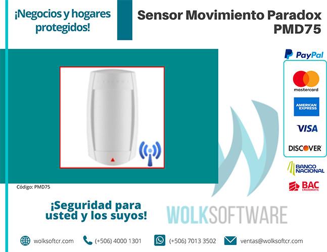 Sensor de movimiento PARADOX PMD75