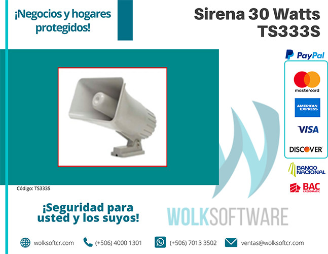 SIRENA 30 WATTS | TS333S