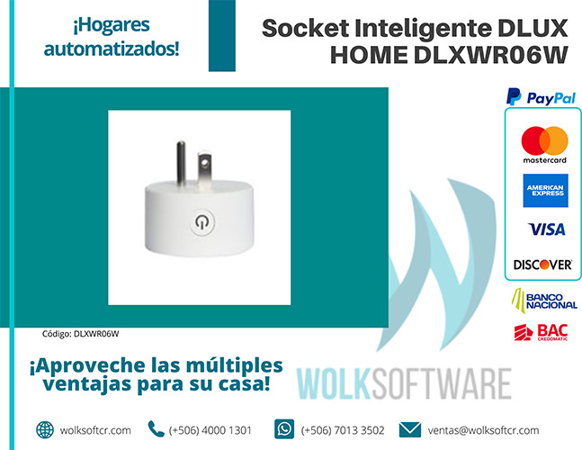 Socket Inteligente DLUX HOME DLXWR06W
