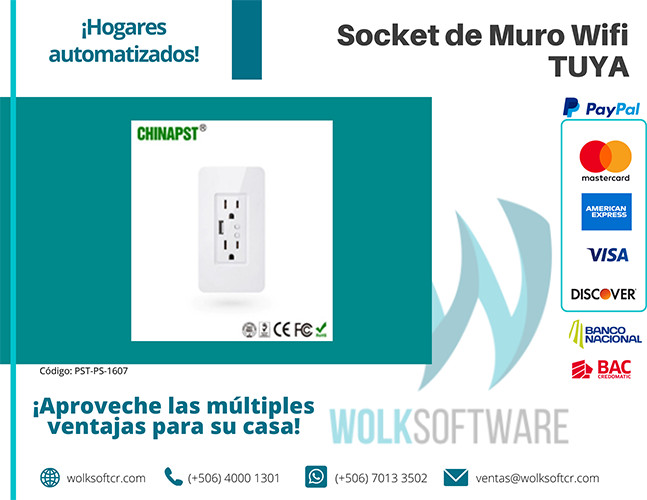 Socket de Muro Wifi TUYA | PST-PS-1607
