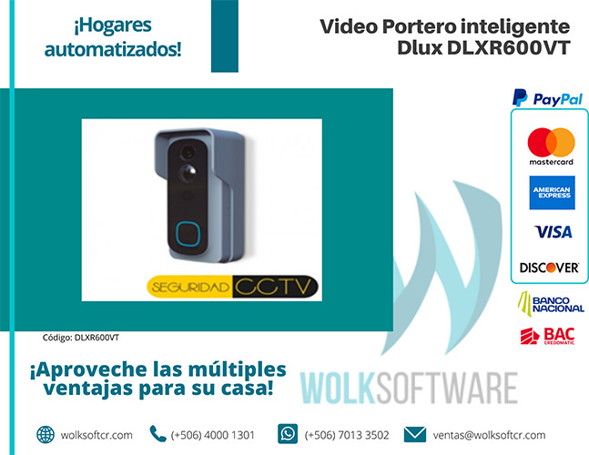 Video Portero inteligente Dlux DLXR600VT
