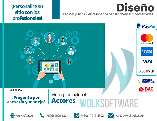 Video promocional con actores
